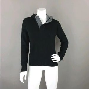 BANANA REPUBLIC WOOL BLEND HOODED PULLOVER SWEATER